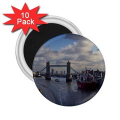 Thames Waterfall Color 10 Pack Regular Magnet (Round)