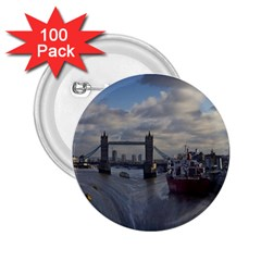 Thames Waterfall Color 100 Pack Regular Button (Round)