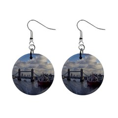 Thames Waterfall Color Mini Button Earrings