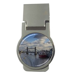 Thames Waterfall Color Money Clip (Round)