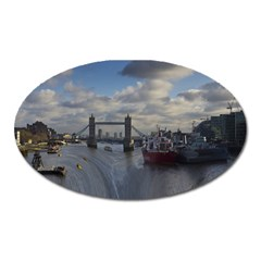 Thames Waterfall Color Large Sticker Magnet (Oval)