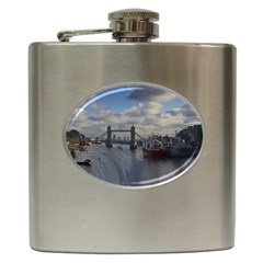 Thames Waterfall Color Hip Flask