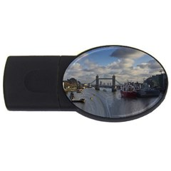 Thames Waterfall Color 2Gb USB Flash Drive (Oval)