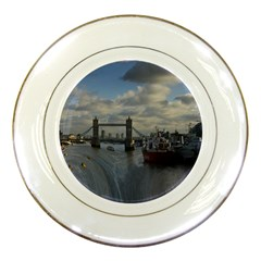 Thames Waterfall Color Porcelain Display Plate