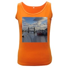 Thames Waterfall Color Dark Colored Womens'' Tank Top