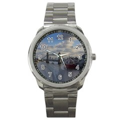 Thames Waterfall Color Stainless Steel Sports Watch (Round)