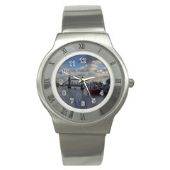 Thames Waterfall Color Stainless Steel Watch (round)