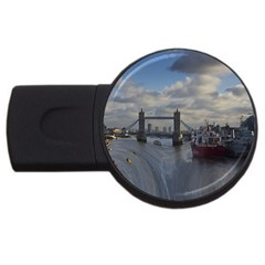Thames Waterfall Color 4gb Usb Flash Drive (round)