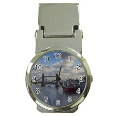 Thames Waterfall Color Chrome Money Clip with Watch