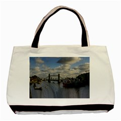 Thames Waterfall Color Black Tote Bag