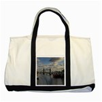 Thames Waterfall Color Two Toned Tote Bag Front
