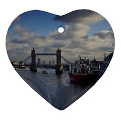 Thames Waterfall Color Heart Ornament (Two Sides)