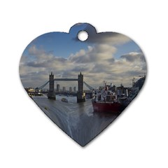 Thames Waterfall Color Twin-sided Dog Tag (Heart)