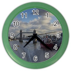 Thames Waterfall Color Colored Wall Clock