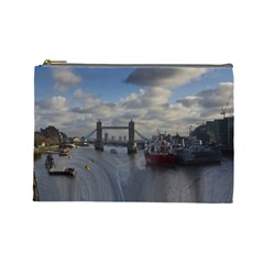 Thames Waterfall Color Large Makeup Purse