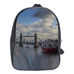 Thames Waterfall Color Large School Backpack