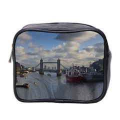 Thames Waterfall Color Twin Sided Cosmetic Case
