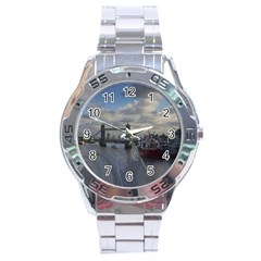 Thames Waterfall Color Stainless Steel Analogue Watch (Round)