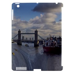 Thames Waterfall Color Apple iPad 3/4 Hardshell Case (Compatible with Smart Cover)