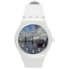 Thames Waterfall Color Round Plastic Sport Watch Medium