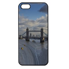 Thames Waterfall Color Apple iPhone 5 Seamless Case (Black)