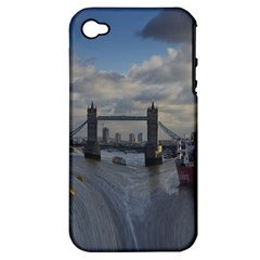 Thames Waterfall Color Apple iPhone 4/4S Hardshell Case (PC+Silicone)