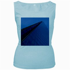 The Shard London Baby Blue Womens  Tank Top