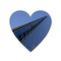 The Shard London Large Sticker Magnet (heart)