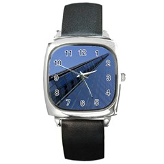 The Shard London Black Leather Watch (Square)