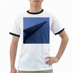 The Shard London White Ringer Mens'' T-shirt