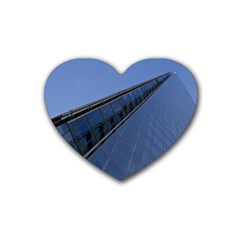 The Shard London Rubber Drinks Coaster (Heart)