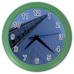 The Shard London Colored Wall Clock