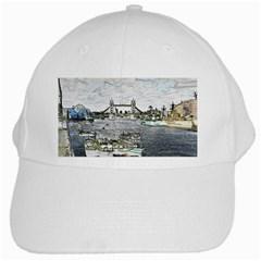River Thames Art White Baseball Cap