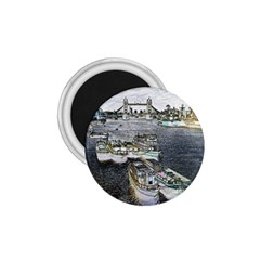 River Thames Art Small Magnet (Round)
