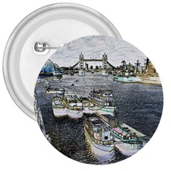 River Thames Art Large Button (Round)