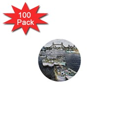 River Thames Art 100 Pack Mini Button (Round)