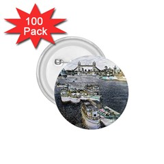 River Thames Art 100 Pack Small Button (Round)