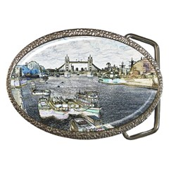 River Thames Art Belt Buckle (Oval)