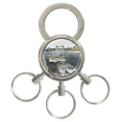 River Thames Art 3 Ring Key Chain