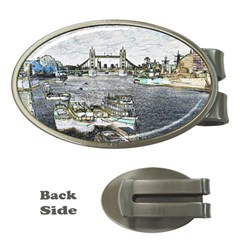 River Thames Art Money Clip (Oval)