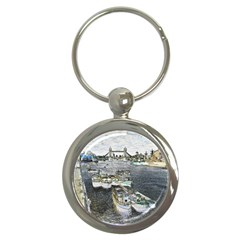 River Thames Art Key Chain (Round)