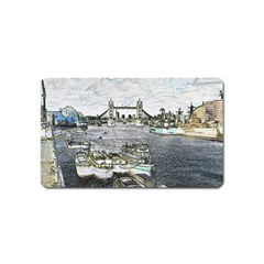 River Thames Art Name Card Sticker Magnet