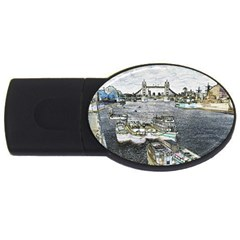 River Thames Art 1Gb USB Flash Drive (Oval)