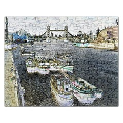 River Thames Art Jigsaw Puzzle (Rectangle)
