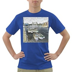 River Thames Art Colored Mens'' T-shirt