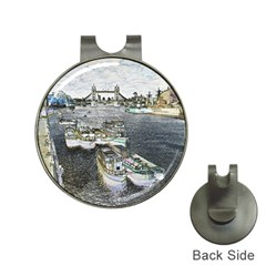 River Thames Art Hat Clip With Golf Ball Marker