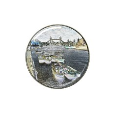 River Thames Art Golf Ball Marker (for Hat Clip)