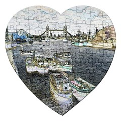 River Thames Art Jigsaw Puzzle (Heart)