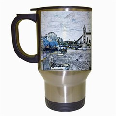 River Thames Art White Travel Mug