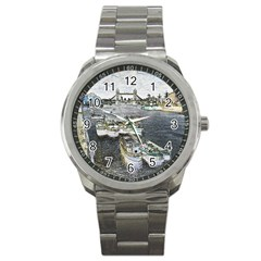 River Thames Art Stainless Steel Sports Watch (round)